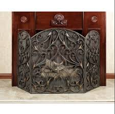 leaded glass fireplace screens charming decoration dining room fresh in leaded glass fireplace screens