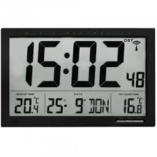 xl radio controlled wall clock with