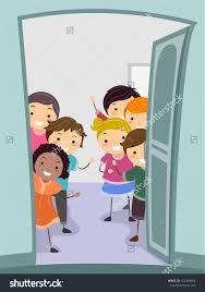 animated classroom door87 door