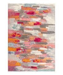 cream pink contemporary pop rug