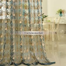 amazing embroidery craftsmanship teal sheer curtain embroidered sheer curtains decor