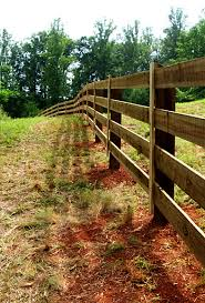 3 4 and 5 Board post and rail wood fence