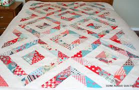 Red and Aqua Half Square Triangle Quilt | goneaussiequilting… | Flickr & ... goneaussiequilting Red and Aqua Half Square Triangle Quilt | by  goneaussiequilting Adamdwight.com