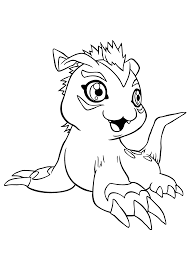 Small Picture Digimon Coloring Pages Bestofcoloringcom
