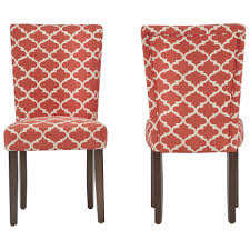 catherine moroccan pattern fabric parsons dining chair set of 2 by inspire q bold on today overstock 10155882
