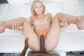 Black huge cock on blonde