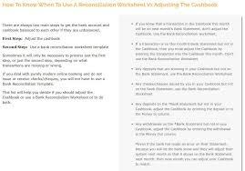 Check Reconciliation Template Bank Reconciliation Statements