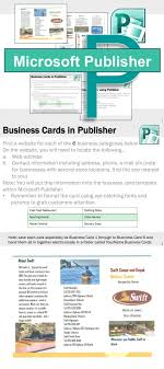 Ms Office Publisher Microsoft Publisher Activities Tech Lessons Microsoft Publisher