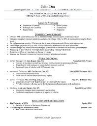 Auto Technician Resume Free Resume Templates 2018