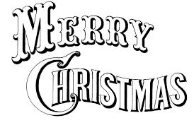 Merry Christmas Black White Image Created