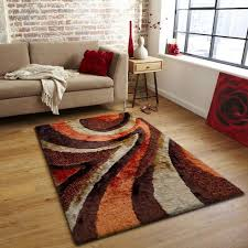 orange and brown area rugs