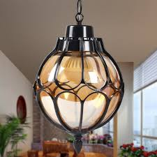 Vintage Outdoor Ceiling Lights Injuicy Vintage Industrial E27 Edison Glass Pendant Lights