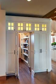White Double Doors for Walk-In Pantry