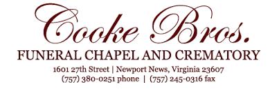 Recent Obituaries | Cooke Bros. Funeral Chapel & Crematory