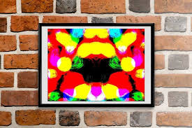 modern framed painting decorative