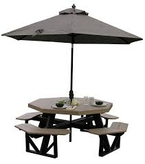 outdoor table png. luxcraft poly octagon picnic table outdoor png b
