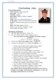 Marine Engineer Sample Resume 4 Marine Engineer Curriculum Vitae