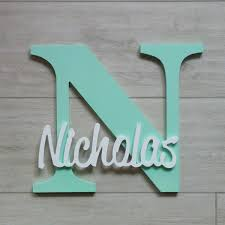 personalised wooden letter with name in