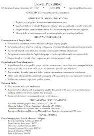 customer service representative resumes qualifications for customer service representative resume
