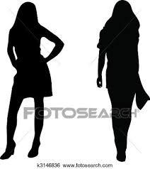 2 セクシー 女性 シルエット 白 バックグラウンド クリップアート