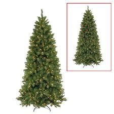Dual Led Light Christmas Tree National Tree Company 7 5 Ft Lehigh Valley Slim Pine Artificial Christmas Tree With Dual Color Led Lights