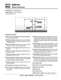 Water Separator Warning Light Multiquip Mqp240 Portable Generator User Manual Manualzz Com