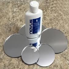 laser cut clear mirrored acrylic discs