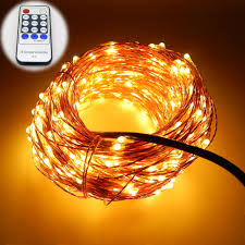 White Cord Led String Lights Us 19 07 28 Off 99ft 30m 300 Leds Copper Wire Warm White Led String Lights Starry Lights Fairy Lights 12v Power Adapter Remote Control In Led String