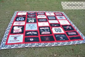 T-Shirt Quilting BASICS! {Tutorial} | Wee Share & In this t-shirt quilt that I made, I wanted to have a completely red and  black theme. It just so happened that I did not have ANY red t-shirts —  which ... Adamdwight.com