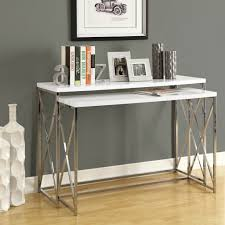 contemporary entry table. Console Table Design, Small Modern Rectangle White Glossy Wooden Expandable With Metal Legs Contemporary Entry