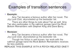 transitional sentences how to write a transitional sentence