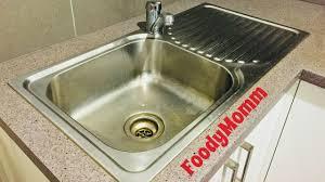 How To Clean Kitchen Sink Clean Sink With Salt Lemon No