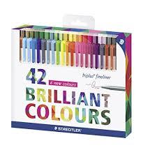 Staedtler Triplus Color Chart Staedtler 334c42 Triplus Fineliner 42 Color Assorted Super
