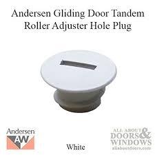 hole plug andersen psii gliding doors tandem roller adjuster white