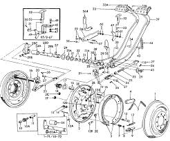 Ford tractor parts diagram primary portrayal and parking brake dzmm