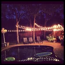 cheap outdoor lighting for parties. backyard party lights around the pool for engagement cheap outdoor lighting parties o