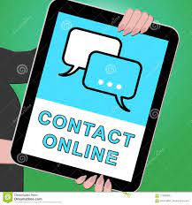 Contact Online Tablet Meaning Customer Service 3d Illustration Stock  Illustration - Illustration of online, contact: 113908800