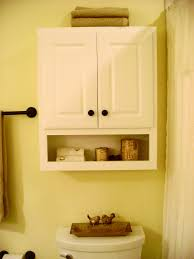 ... Kitchen Charming White Wooden Custom Two Doors Over The Toilet Cabinet  And Racks As ...