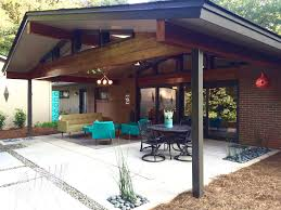 mid century modern ranch covered patio simple concrete with patio cover e83 modern