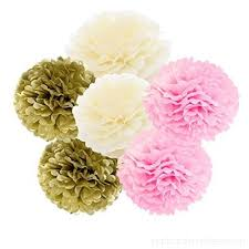 Pink Paper Flower Decorations Daily Mall Diy Art Hanging Tissue Paper Flower 12pcs 20cm 25cm Decoration Paper Flower Balls Pom Poms For Wedding Party Baby Shower Birthday Home