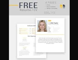 Free Resume Template For Word New 48 Eye Catching CV Templates For MS Word Free To Download