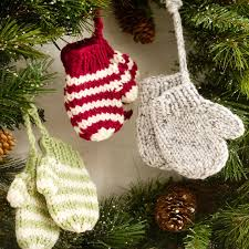 Crochet Christmas Ornaments Patterns Impressive Mitten Ornaments Red Heart