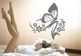 Small Picture Sarah Butterfly Wall Decal Floral Decor with a Butterfly