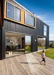 exterior metal cladding nz. interesting cladding combination wooden deck nelson house enchanting home away from the rush: in new zealand exterior metal nz m