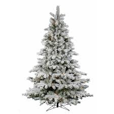 Divine Flocked Artificial Christmas Tree For Christmas Decoration Design  Ideas