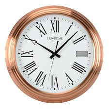 large copper wall clock round copper metal clock 42cm diameter copper home accessories