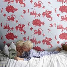 Red Wallpaper For Bedroom Designer Kids Wallpaper Ere Be Dragons In Red Bedroom Decor Cuc