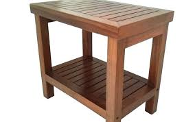 ing wooden shower bench australia cedar