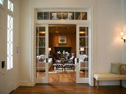 pocket doors with glass plan