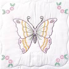 Quilt Squares - Embroidery Patterns & Kits - 123Stitch.com & Butterfly 18